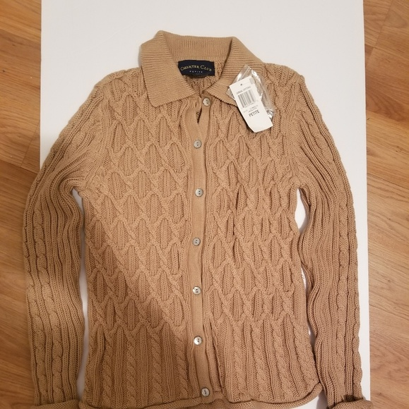 Charter Club Sweaters - Petite Charter Club Button Down Sweater